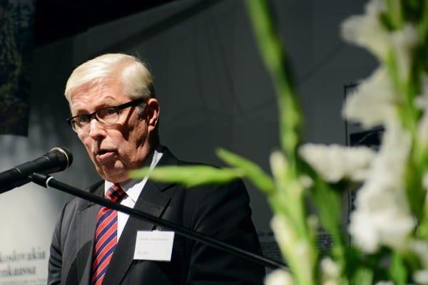 Helsingin Sanomain Säätiön hallituksen puheenjohtaja Janne Virkkunen pitää juhlapuheen Säätiöpäivänä 19.9.2013