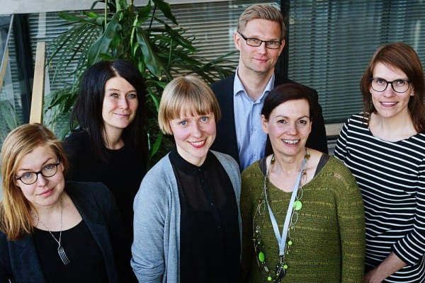 Eeva Eronen, Pauliina Siniauer, Kati Toivanen, Petri Jauhiainen, Satu   Vasantola ja Elina Salo.