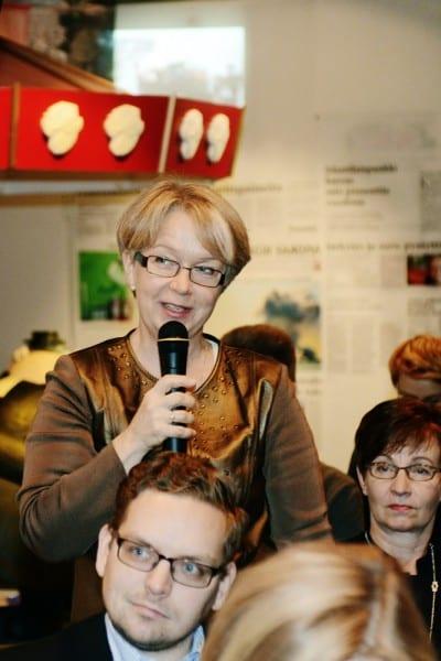 Johtaja Sirpa Kirjonen Sanomalehtien Liitto. Kuva: Ida Pimenoff