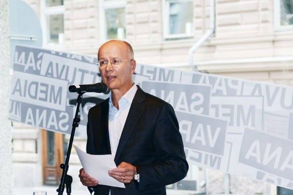 Tuomariston puheenjohtaja Pekka Ala-Pietilä.