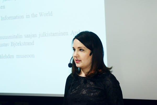 Opetus- ja kulttuuriministeri Sanni Grahn-Laasosen puheenvuoro käsitteli pohjoismaista julkisuusperiaatetta kansainvälisessä yhteisössä.