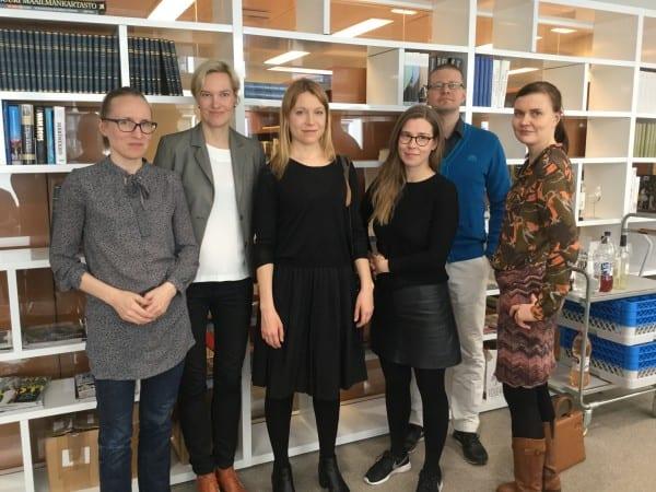 Uusia stipendiaatteja: Marjut Tervola, Riikka Suominen, Heini Maksimainen, Heidi Väärämäki, Raiko Häyrinen ja Ilona Turtola.