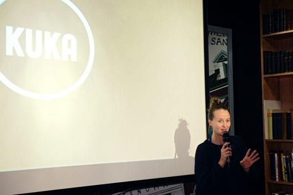 Mari Vaara kertoi, miten Kuka-verkosto pyrkii lisäämään median moniäänisyyttä.